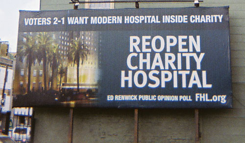 Reopen Charity Hospital